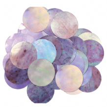 Metallic Iridescent Foil Confetti | 25mm Metallic Round | 50g Bag